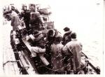 Bemanning O.285 Marie-Jos�-Rosette (Bouwjaar 1936) op reddingsboot