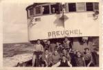 Bemanning O.299 Breughel (Bouwjaar 1946) aan boord