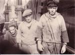 3 vissers. vlnr: Lagast, René Savels en Berten Denys