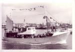 Z.451 Pacem in Terris (Bouwjaar 1964) vaart haven Zeebrugge uit, author: Onbekend