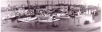 Oude vissershaven van Zeebrugge met jachthaven op voorgrond