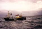 Z.38 Manta (Bouwjaar 1986) viert netten naar bodem om te vissen.