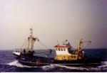 Z.38 Manta (Bouwjaar 1986) uitgerust voor boomkorvisserij op Noordzee., author: Onbekend