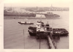 Sleepboten in oude vissershaven Zeebrugge