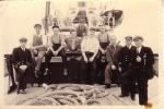 Bemanning aan boord van loodsboot Westhinder
