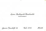 Visitekaartje Leon Bultynck-Deschacht
