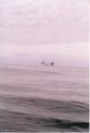 Boorplatform met bevoorradingsschip
