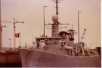 fregat F.911 Westdiep in marinebasis Zeebrugge