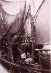 Vaartuig uitgerust voor garnaalvangst