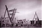 Kiellegging houten vissersvaartuig