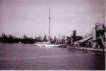 Baggerschip in haven Zeebrugge