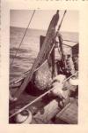Vangst van kreefteput binnenhalen