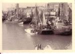 Verschillende garnaalvissers in haven Zeebrugge