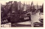 Vissersvaartuigen bij de Tijdokstraat in Zeebrugge, author: Onbekend