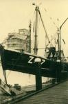 Schip in Zeebrugge