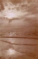 Avondschemering over de Noordzee