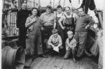 Bemanning en kinderen aan boord