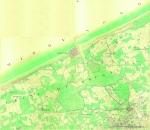 &lt;B&gt;de Ferraris, J.J.J.&lt;/B&gt; (1771-1778). Ostende. Kwartblad 7/1, 7/2, 7/3 en 7/5. Scale 1:11.520. <i>Kabinetskaart van de Oostenrijkse Nederlanden en het prinsbisdom Luik (1771-1778)</i>. J. de Ferraris: Brussel. 1 map pp.