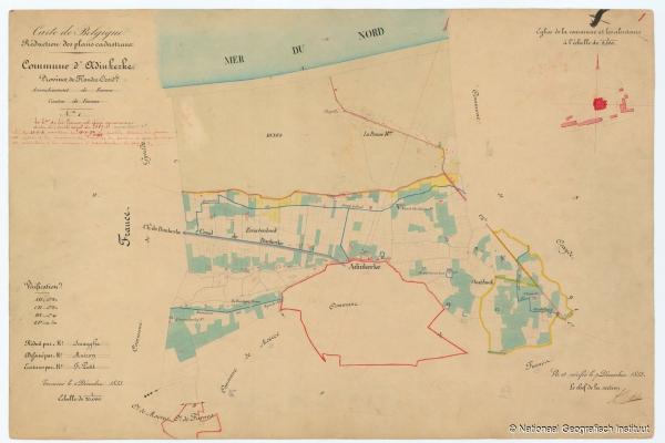 Commune d'Adinkerke - 1853