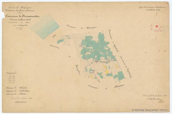 Commune de Nieuwmunster - 1853