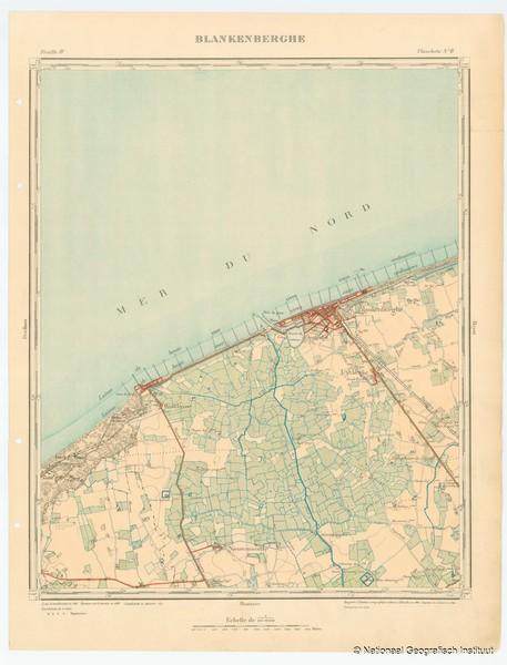 Blankenberghe. Feuille IV, planchette n° 8 - 1897