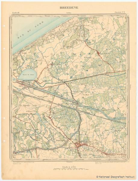 Breedene. Feuille XII, planchette n° 3 - 1883