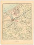&lt;B&gt;Institut Cartographique Militaire&lt;/B&gt; (1901). Nieuport. Feuille XII, planchette n° 5. Levés et nivellements en 1860. Revision sur le terrain en 1883. Imprimé en couleurs en 1890. Réimprimé en 1901. <i>Carte topographique de la Belgique à l'echelle de 1