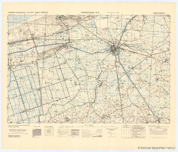 France & Belgium 1:25,000 Sheet 29 S.E. Dunkerque S.E. - 1944