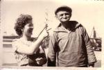 Albert Ackx ('Van Nous') met onbekende vrouw