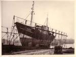 Z.495 Rik (bouwjaar 1957) op slipway Zeebrugge