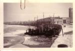 bevroren haven van Nieuwpoort