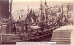 Belgische vissersvaartuigen in haven Brixham (Devonshire)