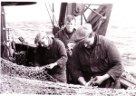 Netten boeten op de Z.412 Belgian Researcher (bouwjaar 1950)