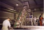 Zeetong op sorteerband te Zeebrugge