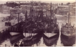 Vlaamse vissersvloot te Brixham, 1943