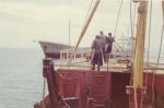 Kustvaarder Eole in de Liverpool baai