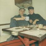 Maurice Dobbelaere (links) en Jozef Thys (rechts)