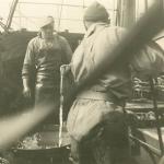 Vissers aan boord van de Z.403 Stern (Bouwjaar 1961)