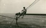 Charles Vlietinck doet kunstjes op de Z.568 Zeespiegel (bouwjaar 1962)