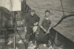 Alfred Devos (links) en Roger Decuyper aan boord