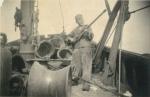 André Van Torre op de Z.520 De Drie Gebroeders (Bouwjaar 1926)