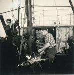 Aan boord van de Z.562 Luc (bouwjaar 1956), author: Onbekend