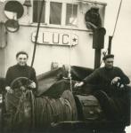 Bij de winch van de Z.562 Luc (Bouwjaar 1956), author: Onbekend