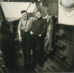 Frans Ackx (links) en André Van Torre op de Z.562 Luc (Bouwjaar 1956)