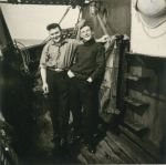 Frans Ackx (links) en André Van Torre op de Z.562 Luc (Bouwjaar 1956), author: Onbekend