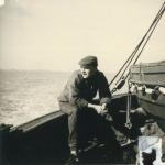 Andr� Van Torre aan boord van de Z.562 Luc (Bouwjaar 1956), author: Onbekend