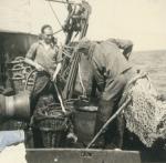 Vissers aan boord van de Z.583 Sunny Boy (Bouwjaar 1947), author: Onbekend