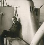 Andr� Van Torre aan boord van de O.37