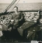 André Van Torre aan boord van de Z.402 Atlantis (Bouwjaar 1963)