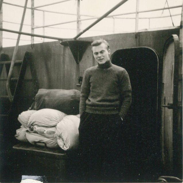 André Van Torre tijdens zijn laatste reis aan boord van de Z.402 Atlantis (Bouwjaar 1963)